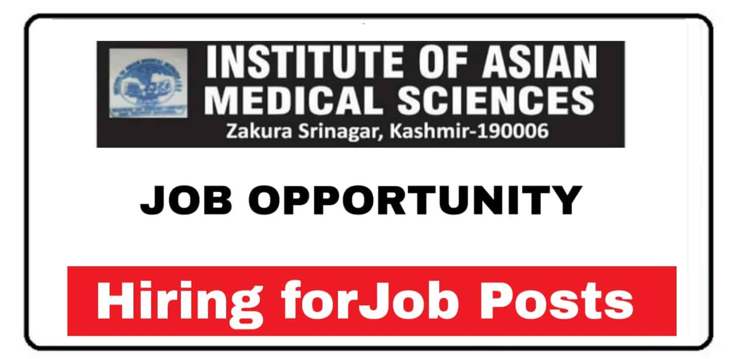 INSTITUTE OF ASIAN MEDICAL SCIENCES JOB OPPORTUNITY