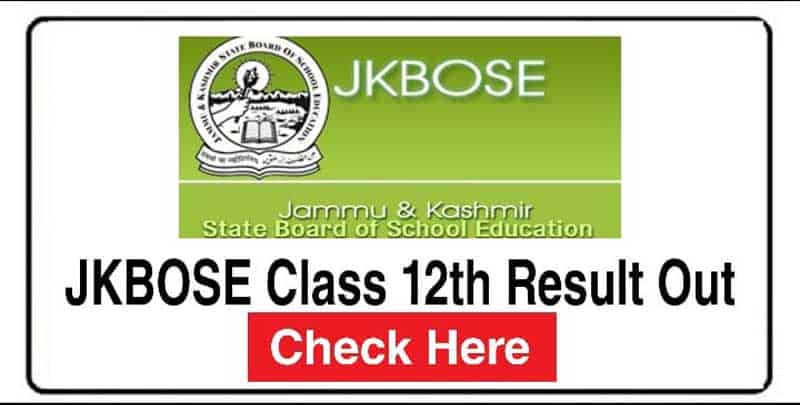 JKBOSE class 12th 2020 Result (Out) Kashmir Division: Download Here