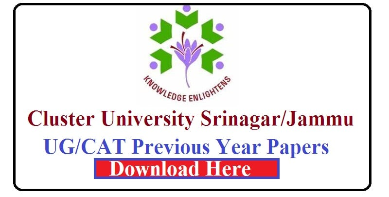 cluster University Previous Year Papers