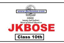 JKBOSE Class 10th Urdu Model Papers and Sample Papers