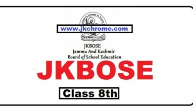 JKBOSE Class 8th Urdu Model Papers and Sample Papers