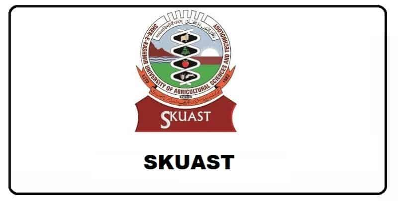 SKUAST UG / PG Result, Books, Papers, Syllabus, Study Material for Exam Preparation