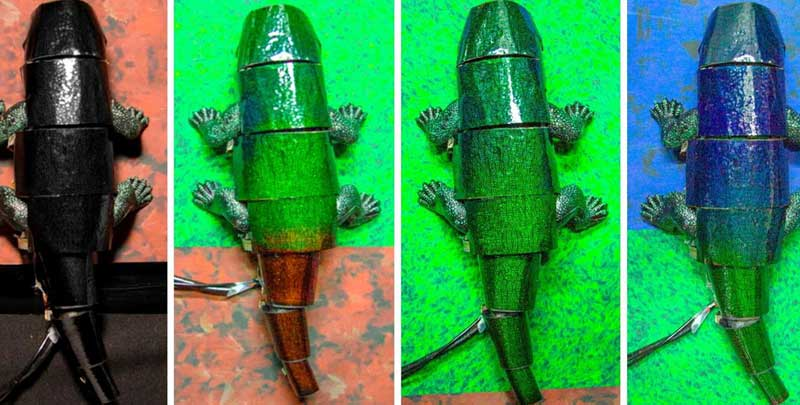 Researchers create chameleon-like artificial 'skin', can instantly change colour