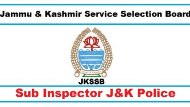 J&K Police Sub Inspector Previous Question Papers