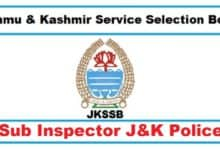 JKSSB Police Sub Inspector Study Material and Notes