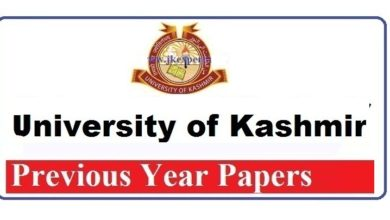 Kashmir University BSc 6th Semester Previous Papers